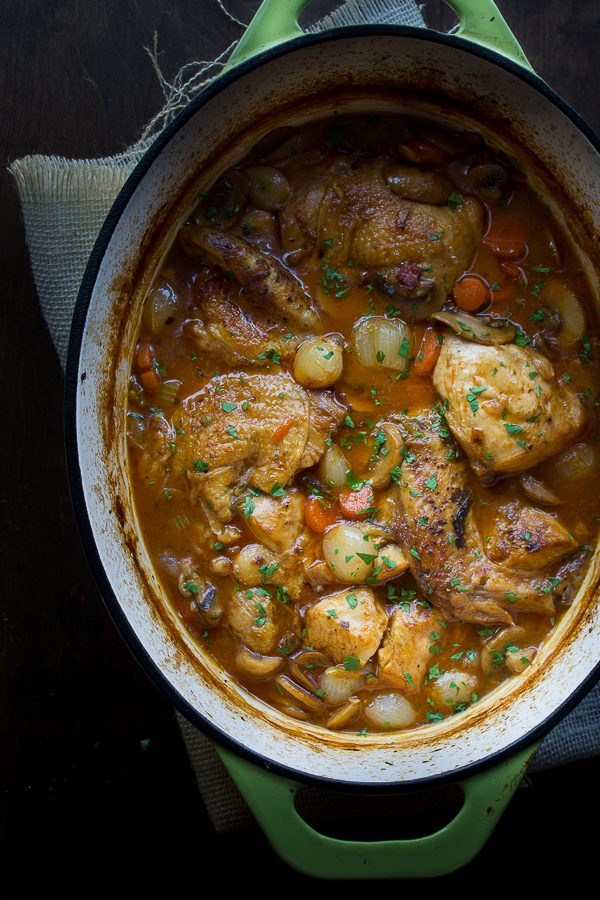 Coq au Vin Blanc - this may be the most delicious chicken dish you've ever made. | @tasteLUVnourish