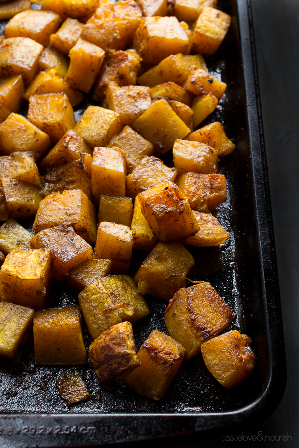 Five-Spice Roasted Butternut Squash | @tasteLUVnourish | #butternut #squash #five-spice #sidedish