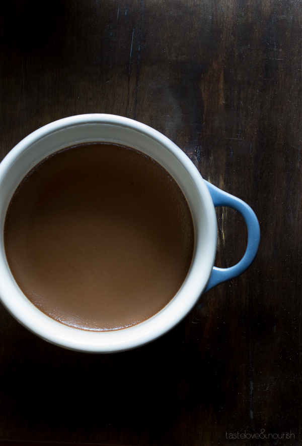 Milk Chocolate Pots de Creme   @tasteLUVnourish   #chocolate #potsdecreme #light