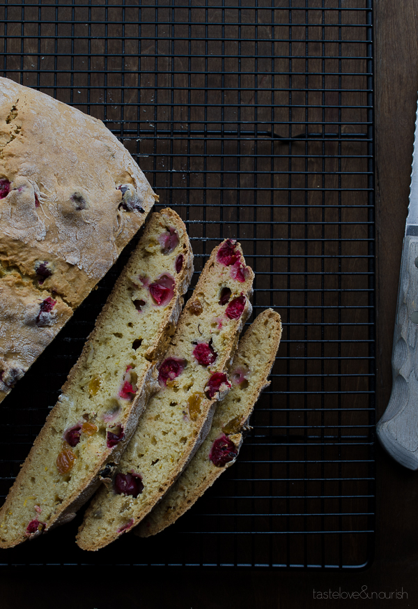Cranberry Orange Soda Bread | @tasteLUVnourish | #cranberry #orange #sodabread