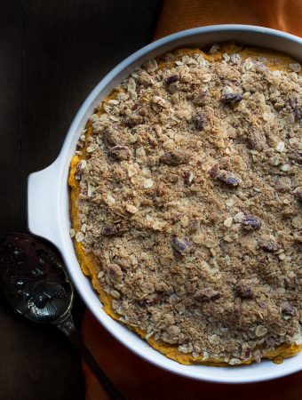 Sweet Potato Casserole | @tasteLUVnourish | #sweetpotato #casserole #light @lovemysilk