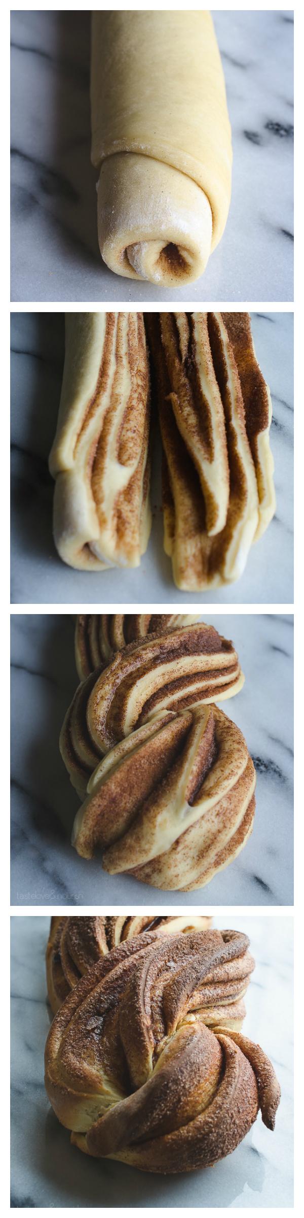 Cinnamon Nog Twist Bread | @tasteLUVnourish | #bread #nog #holiday
