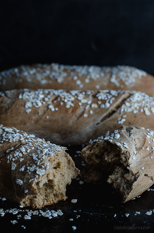 Honey Wheat Brown Bread - this hearty bread is slightly sweet and perfect served with a meal. | @tasteLUVnourish on www.tasteloveandnourish.com #threeloaves