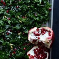 Massaged Kale Salad with Parmesan, Pine Nuts and Pomegranate