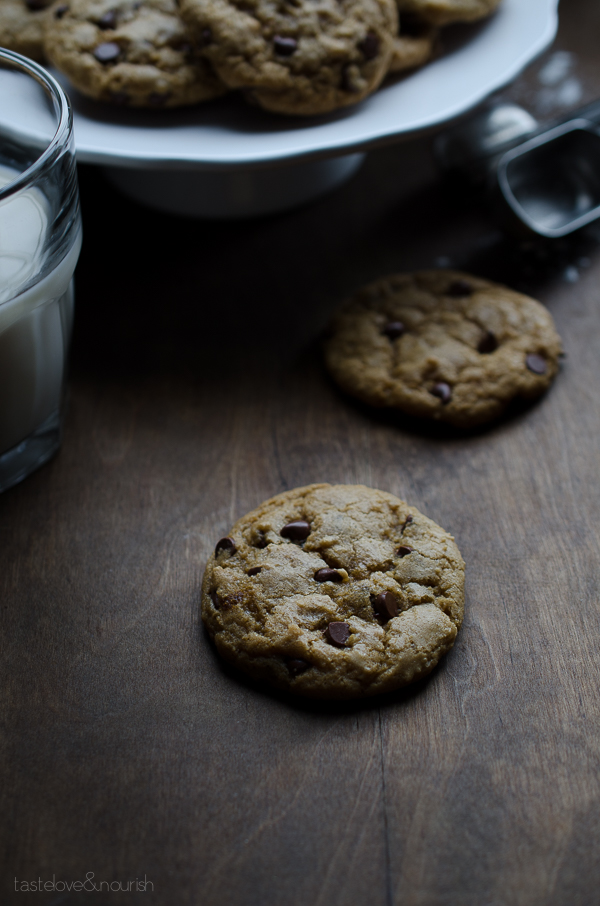 The Most Amazing Soft-Baked Vegan Chocolate Chip Cookies - seriously the best chocolate chip cookies I've ever made, vegan or not! | From @tasteLUVnourish on www.tasteloveandnourish.com