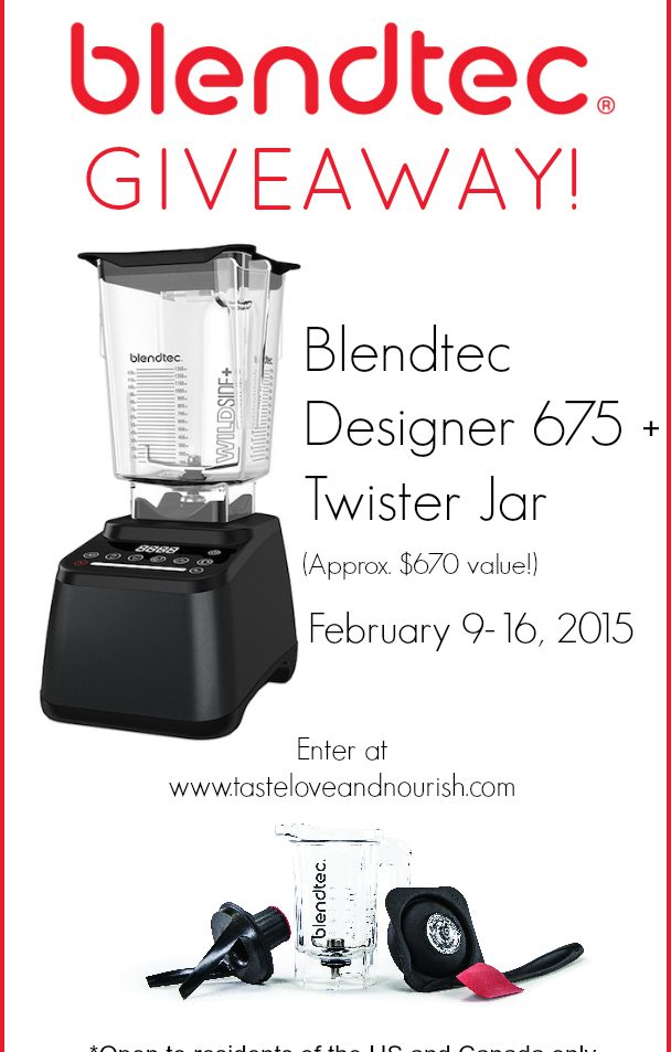 Blendtec Designer 675 Blender and Twister Jar Giveaway! Enter now!