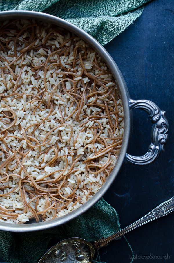 Rice Pilaf - learn how to make a deliciously basic rice pilaf with tips for success. | From @tasteLUVnourish on www.tasteloveandnourish.com