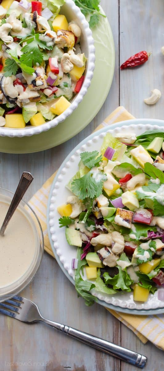 Thai Cashew Chicken And Mango Salad This Salad Is Full Of So Many Great Flavors
