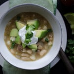 White Bean and Chicken Chili - So delicious, healthy and easy with a great spicy kick! | From @tasteLUVnourish on TasteLoveAndNourish.com