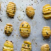 Hasselback Garlic and Herb Baby Potatoes