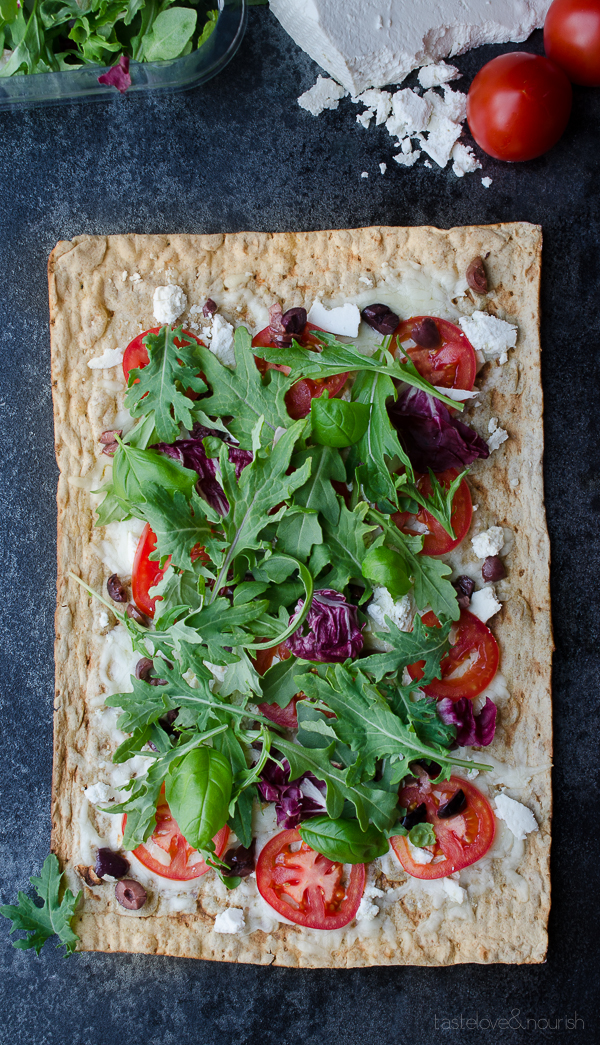 Ricotta Salata and Olive Grilled Flatbread with Kale Italia - taste ...