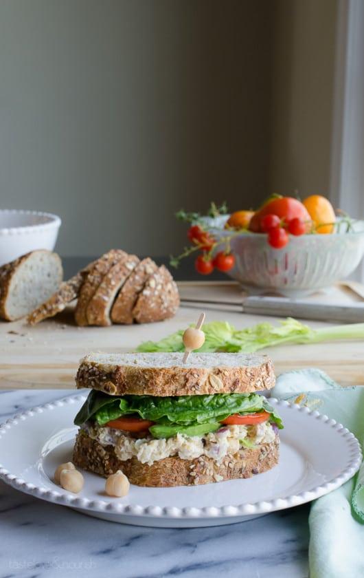Chickpea Smash Sandwich - my most favorite sandwich! | @tasteLUVnourish