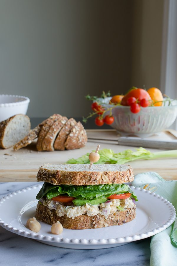 Chickpea Smash Sandwich - my most favorite sandwich! | @tasteLUVnourish