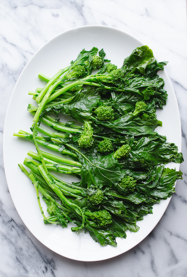 Broccoli Rabe (Rapini) with Garlic Parmesan and Lemon - use these easy steps to