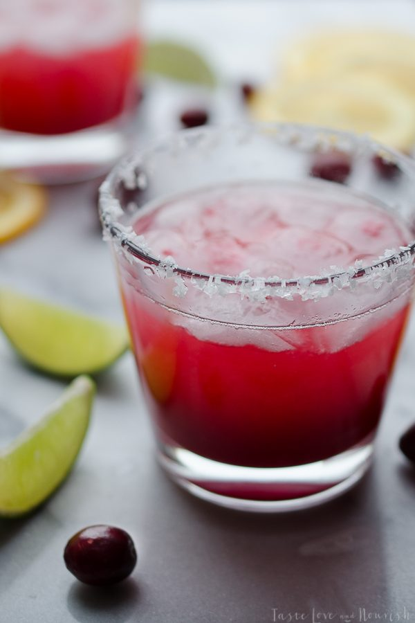 Fresh Cranberry and Orange Margarita - made with fresh cranberries…so delicious! Cheers!