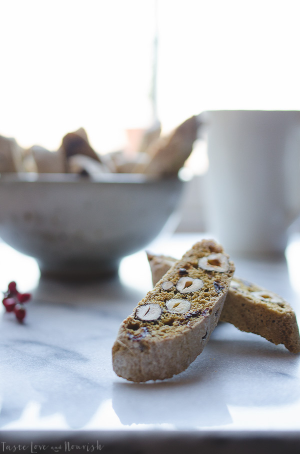 This Hazelnut Almond Biscotti recipe is based on an authentic method of preparing biscotti. Perfectly crunchy paired with your favorite cup of coffee. | @tasteLUVnourish