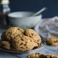 These Chocolate Chip Cookies are amazing! No one will ever guess they are made with olive oil! They have a great crunch on the outside with a soft chew on the inside!