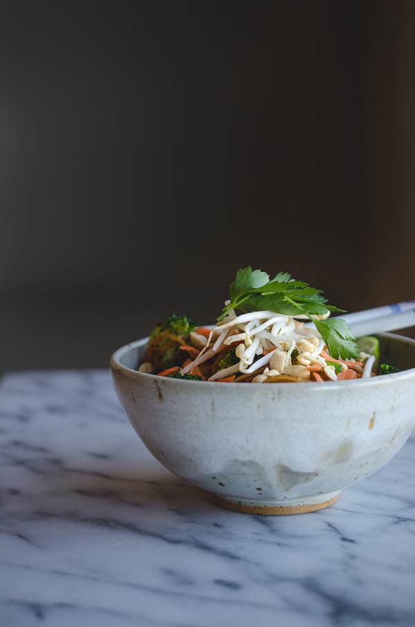 Easy Vegan Vegetable Pad Thai-7