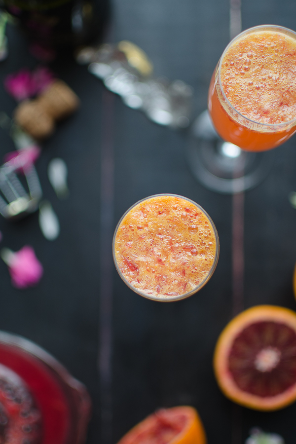 These Blood Orange Mimosas are such a fresh and easy cocktail…perfect for a romantic breakfast, girl's night or a fun brunch! @tasteLUVnourish