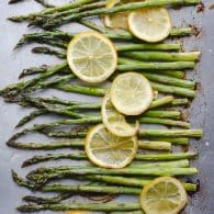 Roasted Asparagus and Lemon - perfectly simple and so delicious! This easy recipe is my favorite! @tasteLUVnourish
