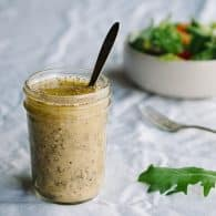 Superfood Vinaigrette - this recipe is so easy and loaded with healthy superfoods to amp-up any salad! @tasteLUVnourish