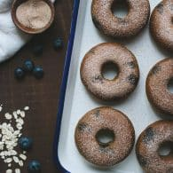 My family devoured these yummy Blueberry Blender Donuts! Love how easy they are to whip up in the blender! So happy they are gluten-free, made without flour or refined sugar! TasteLoveAndNourish.com