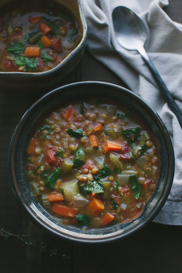 Empty Bowl Lentil Soup - this recipe is the most requested for good reason…simple ingredients and a straightforward recipe yields an amazingly delicious soup! @tasteLUVnourish