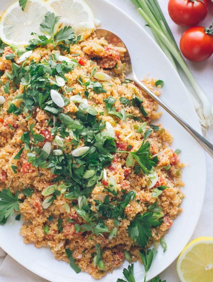 tomato cracked bulgur wheat salad