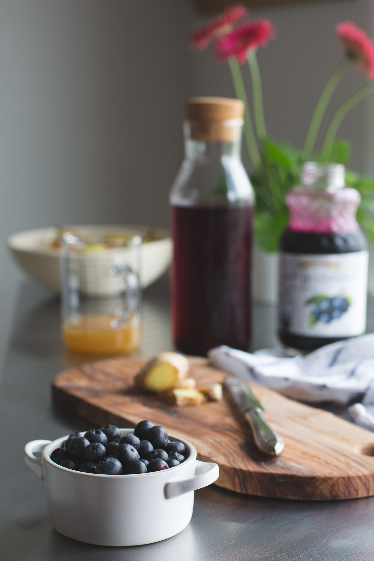 This Blueberry Switchel, or Haymaker's Punch is a fresh twist on an old time farmer's recipe. Do away with artificial sports or energy drinks and enjoy this natural thirst quenching drink. Vegan   Gluten Free   No Refined Sugar   @tasteLUVnourish