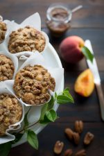 Peach and Pecan Yogurt Muffins