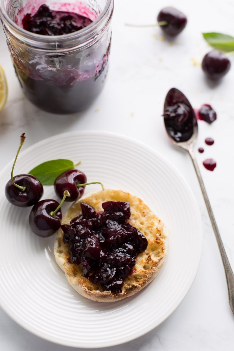 With just three simple ingredients and a little bit of time, you can have a jar of this easy cherry jam in the fridge.  You'll love it over your morning yogurt, on a buttery slice of toast or even over ice cream. Simple, vegan and made without refined sugar. From @tasteLUVnourish