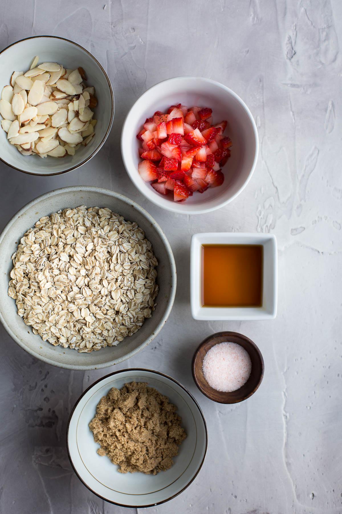 Strawberry Almond Granola - Taste Love and Nourish
