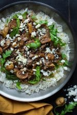 Portobello Fig and Feta Skillet Rice