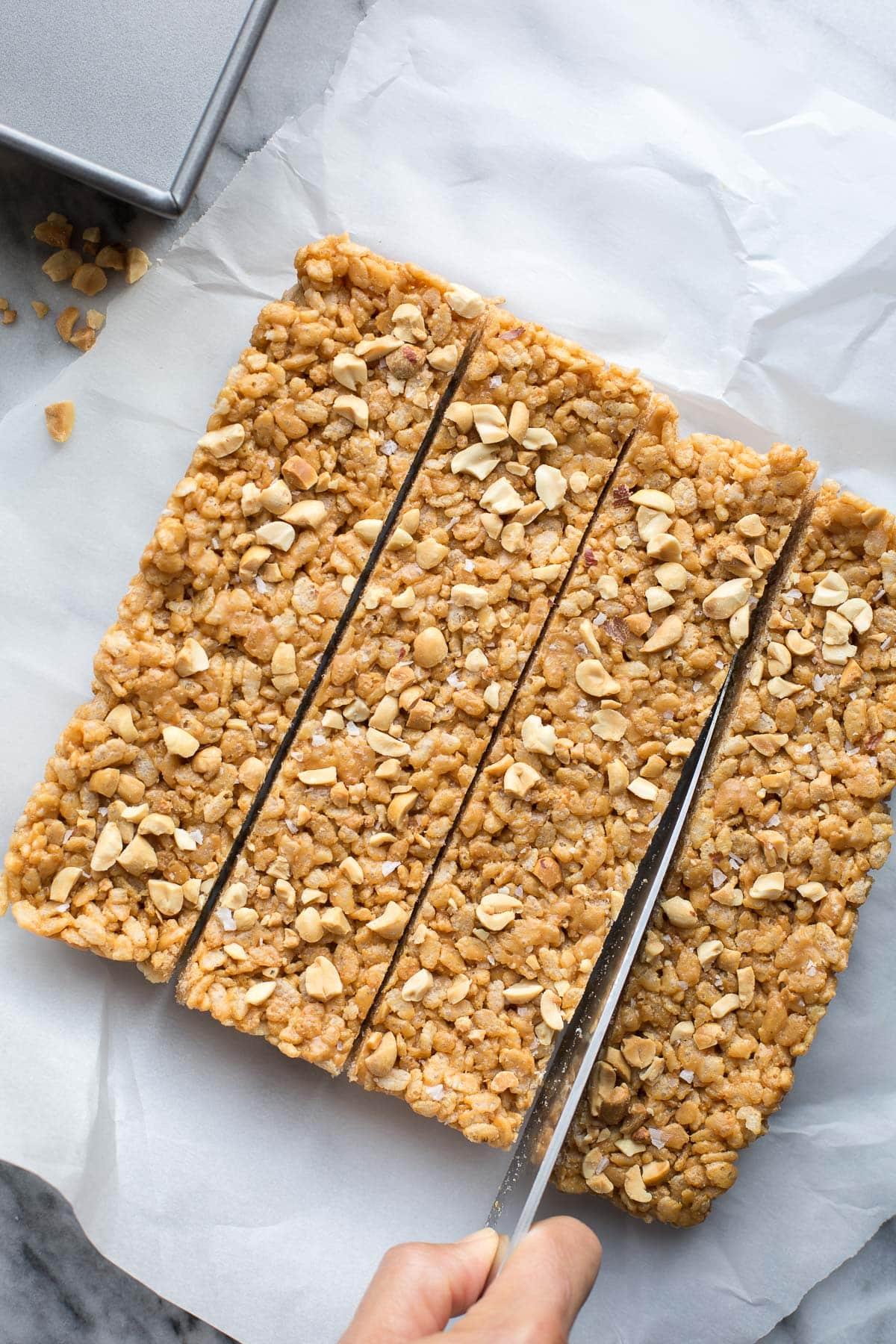 how to make rice crispy peanut butter treats