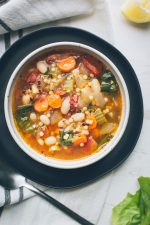 Escarole White Bean and Tomato Soup