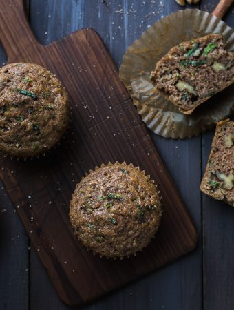If you're looking for a delicious, easy, lower sugar zucchini muffin with perfect texture…ta-da…you've found it! These Zucchini Muffins make a great grab-and-go breakfast or snack. @tasteLUVnourish