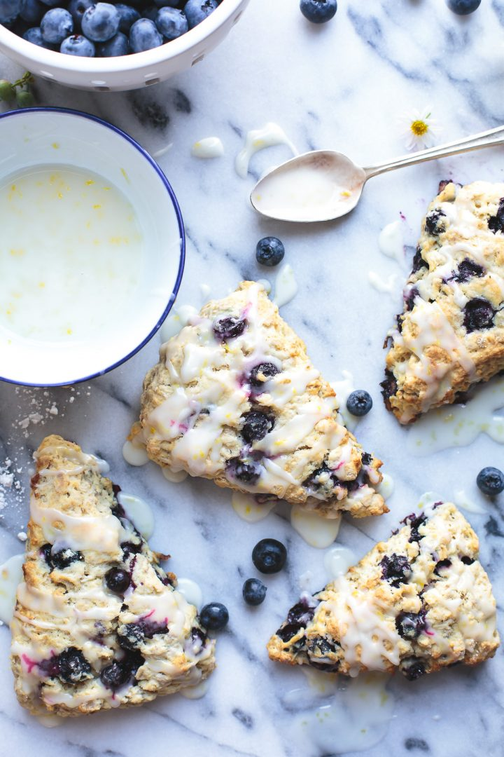 Blueberry Oat Scones with a Lemon Glaze from @tasteLUVnourish