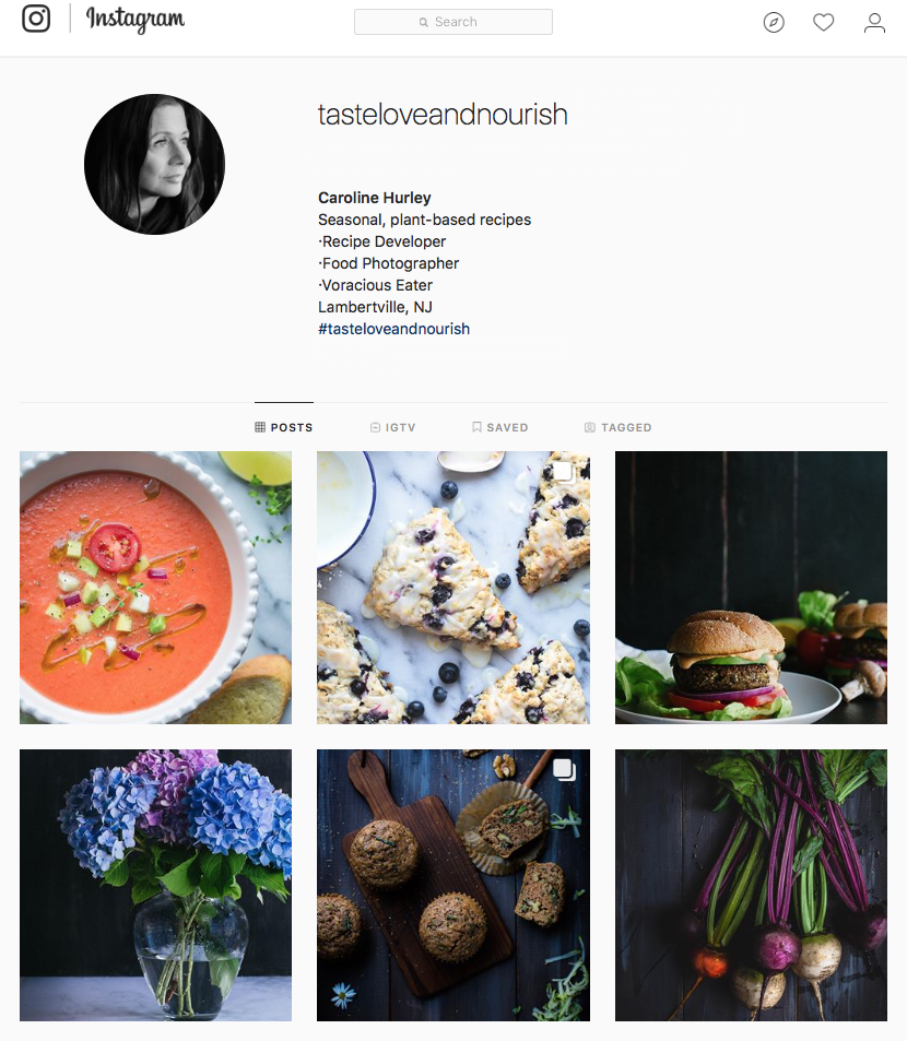 Taste Love and Nourish on Instagram