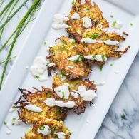 Zucchini Corn Fritters with Garlic Chive Aioli @tasteLUVnourish