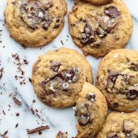 These dreamy Salted Chocolate Chip Cookies, from Dan Kluger, chef and owner of Loring Place, New York City, are the best I've ever made. The recipe is so simple. It may become your new go-to. From @tasteLUVnourish #saltedchocolatechipcookies #chocolatechipcookies #simplechocolatechipcookies #chocolatechunckcookies #softchocolatechipcookies