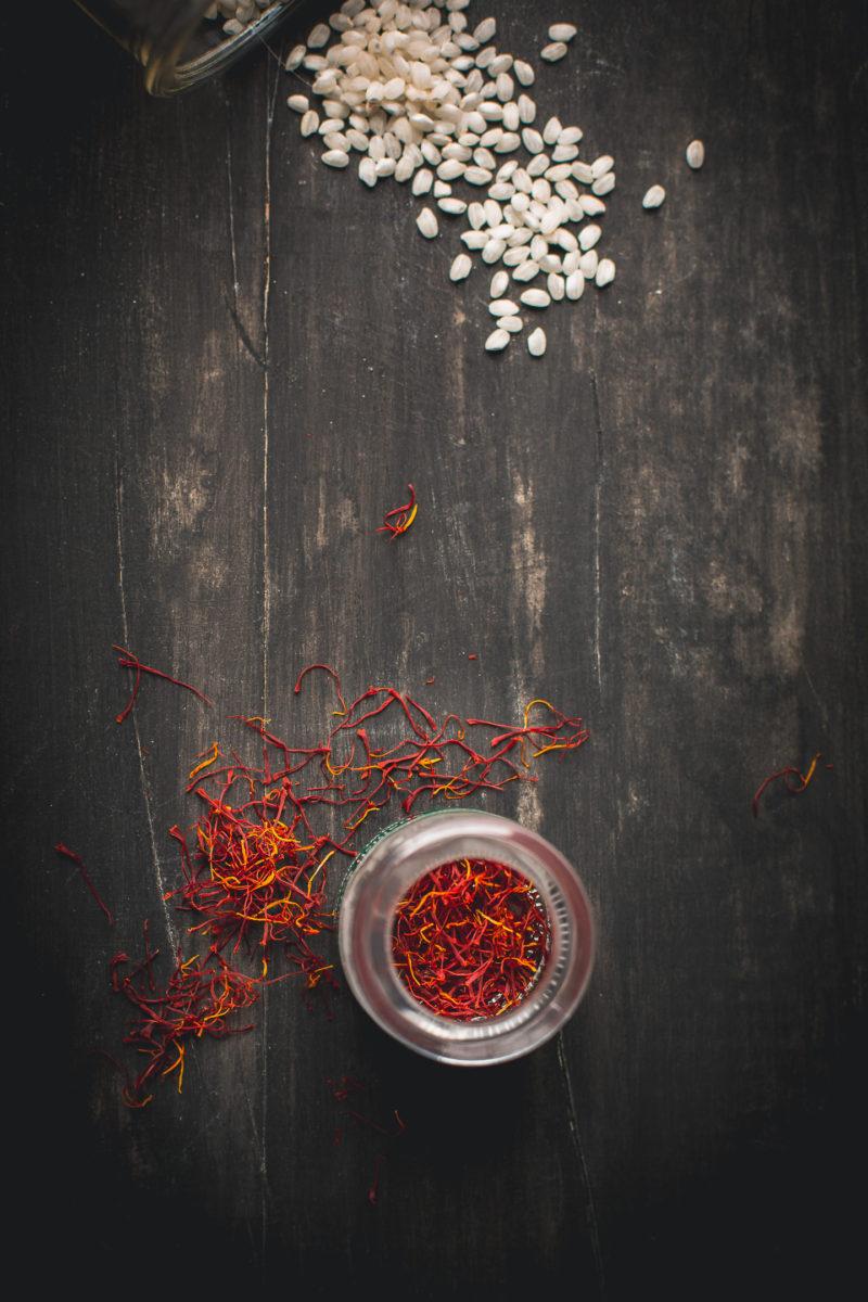 Calasparra rice, paella rice, saffron